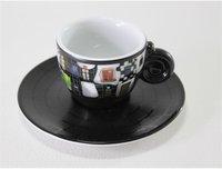 Königlich Tettau Hundertwasser Espressotasse mit Untertasse