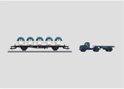 Märklin Behältertragwagen mit LKW (48534)