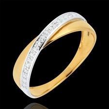 Trauringe Gelb- und Weissgold mit Diamanten