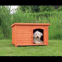 Trixie Natura Flachdach-Hundehütte (104 x 72 x 68 cm)