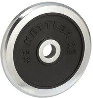 Kettler Chrom/Gummi-Hantelscheibe 10,0 kg