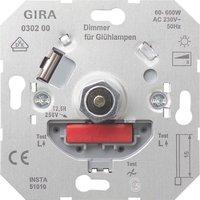 Gira Glühlampen-Dimm-Einsatz mit Druck-Wechselschalter (030200)