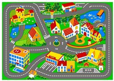 Associated Weavers Spielteppich Stadt Stadt (95 x 133 cm)