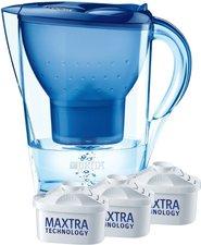 Brita Marella Cool Wasserfilter Blau + 3 Kartuschen