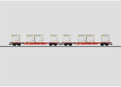 Märklin Container-Tragwagen mit WoodTainer XS Container DB (47076)