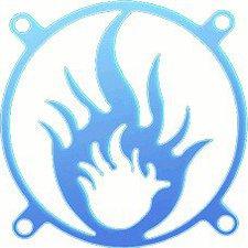 Sharkoon Fan Grill Flame UV 80mm