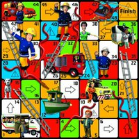 Jumbo Fireman Sam Giant Hoses and Ladders Game