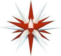 Herrnhuter Sterne Außenbereich weiß-rot