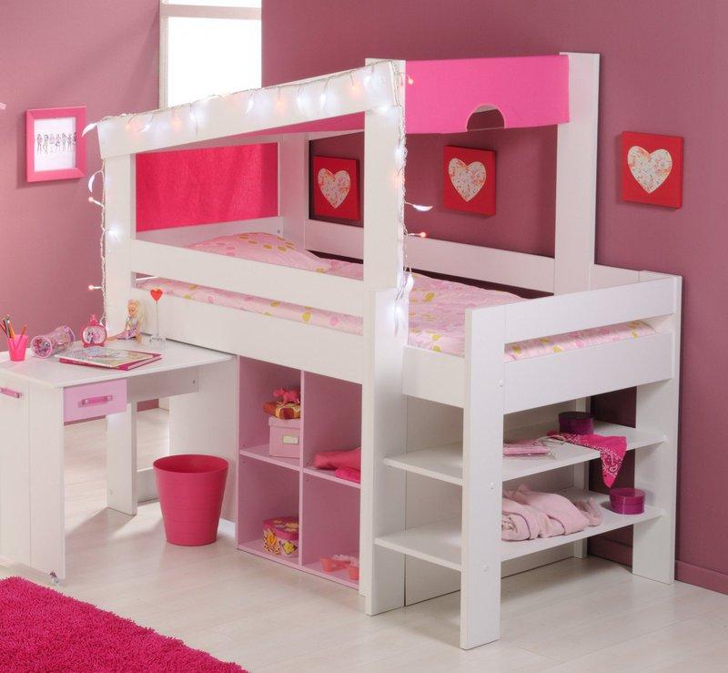 parisot biotiful hochbett mit schreibtisch preisvergleich. Black Bedroom Furniture Sets. Home Design Ideas