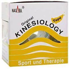 Jovita Nasara Kinesio Tape 5 cm x 5 m gelb inkl. Spenderbox
