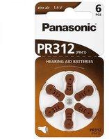 Panasonic PR 312 Hörgeräte-Batterien (6 Stück)