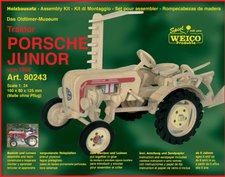 Weico Holzbausatz Das Oldtimer-Museum - Traktor Porsche Junior