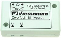 Viessmann Zweifach-Blinkgerät mit zwei gelben Glühlampen (5038)