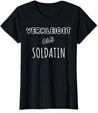 T-Shirt Faschingskostüm Verkleidet als Soldatin
