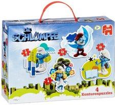 Jumbo Die Schlümpfe - 4-in-1 Puzzlekoffer (40 Teile)