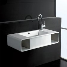 Eago Waschbecken zur Wandmontage 80 x 40 cm (BA333E)