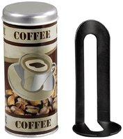 Xavax Dose mit Padlifter für Kaffeepads, Braun