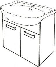 Keramag Renova Nr.1 Waschtischunterschrank wenge (60 cm)