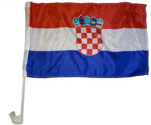 Kroatien Autoflagge EM 2016