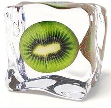 Eurographics Glasbild Iced Kiwi (20 x 20 cm)