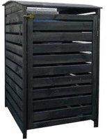 Promex Mülltonnenbox Vario III für 1 Tonne anthrazit (325/52)