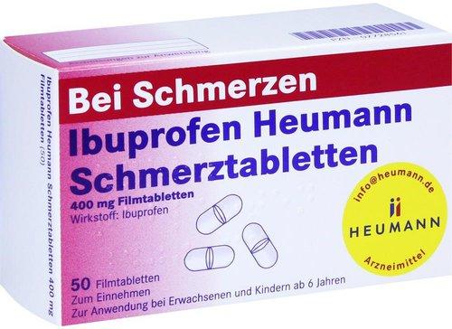 heumann ibuprofen schmerztabletten 400 mg 50 st ck kaufen. Black Bedroom Furniture Sets. Home Design Ideas