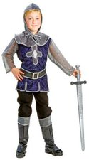 Funny Fashion Kostüm Blausilberner Ritter