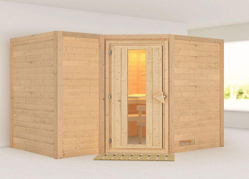 karibu eckeinstieg sauna sahib 2 preisvergleich ab. Black Bedroom Furniture Sets. Home Design Ideas
