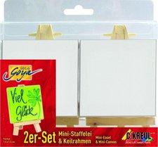 C. Kreul Solo Goya 2er-Set Mini-Staffelei & Keilrahmen