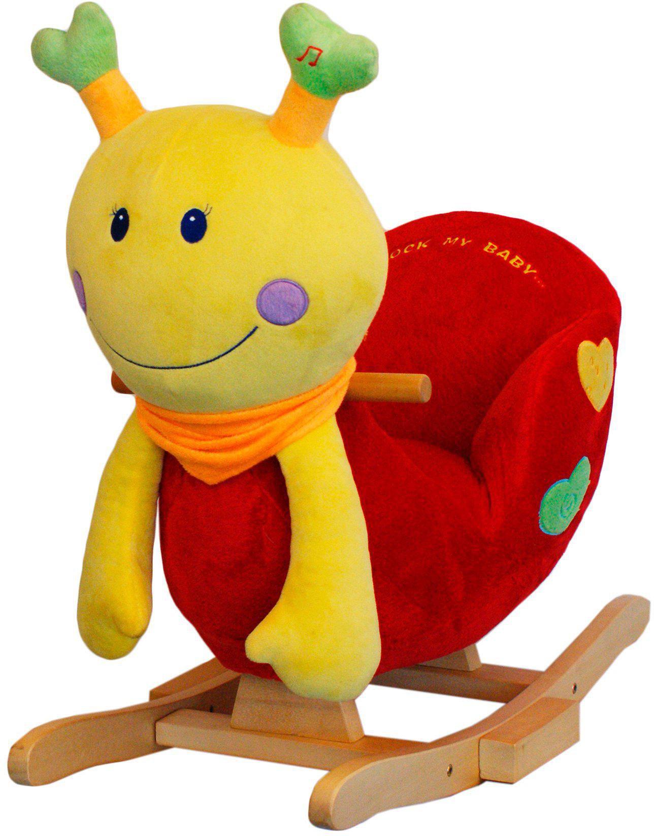vidaXL Schaukeltier Drachen Plüsch Schaukelpferd Kinder Baby Schaukelspielzeug# Holzspielzeug