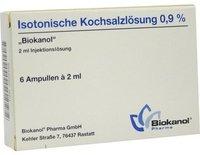 Biokanal Isotonische Kochsalzlsg. 0,9% Amp. (6 x 2 ml)