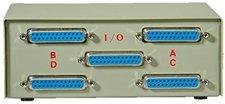 Rotronic Switchbox 25pol D-SUB Buchse ABCD