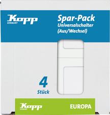 Kopp Aus-/Wechselschalter Europa, 4er Set, weiß (617613086)