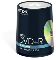 TDK DVD-R 4,7 GB 16x Speed, 100er Spindel