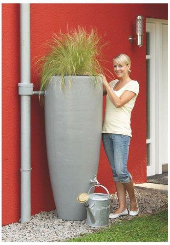 Garantia 2in1 Wasserbehälter mit Pflanzschale 300 L steingrau (326111)