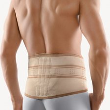 Bort Stabilobasic Rückenbandage mit Pelotte silber Gr. 5 / L