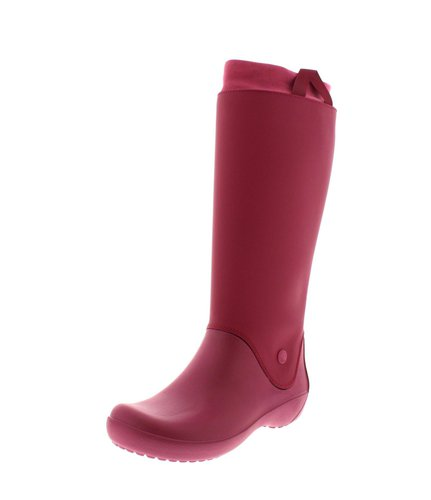 crocs Rainfloe Tall Boot, Damen Kurzschaft Gummistiefel, Pink (Berry 675), 36/37 EU (4 Damen UK)