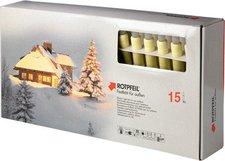 Rotpfeil LED Lichterkette 15er mattiert elfenbein (9751505500)