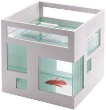 Umbra Fishhotel Aquarium weiß