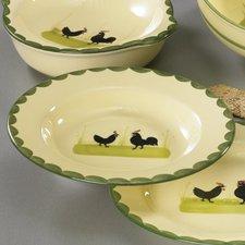 Zeller Keramik Hahn und Henne Suppenteller 24 cm