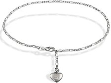Goldmaid Diamant Herz Silberfußkettchen (F4610SH)