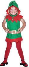 Smiffys Kinderkostüm Weihnachtself Kleid