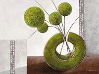 Eurographics Keilrahmenbild Arrangement in Green 60x80 cm