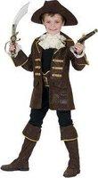 Funny Fashion Kostüm Pirat braun