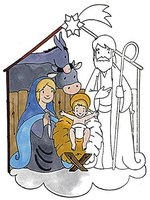 Eduplay Megastempel Weihnachtskrippe (220074)