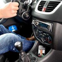 Callstel Bluetooth-Freisprecher & MP3-Streamer für Autoradios mit AUX