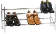 Premier Housewares Schuhregal 2-stöckig ausziehbar 36 x 113 x 22 cm