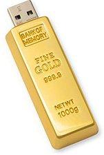 Aricona USB Stick als Goldbarren EDEL