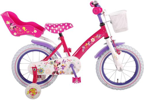 disney minnie mouse kinderfahrrad 14 zoll preisvergleich ab 100 49. Black Bedroom Furniture Sets. Home Design Ideas