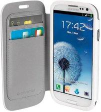 Vivanco Buch-Klapptasche weiß (Samsung Galaxy S3)